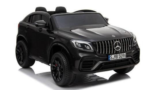 Elektro Kinderfahrzeug lizenziert Mercedes GLC AMG - mit Ledersitz, EVA Reifen und Lackiert - schwarz -5