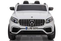 Elektro Kinderfahrzeug lizenziert Mercedes GLC AMG - mit Ledersitz, EVA Reifen und Lackiert - schwarz -2