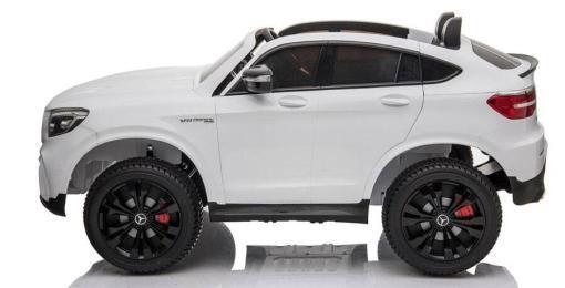 Elektro Kinderfahrzeug lizenziert Mercedes GLC AMG - mit Ledersitz, EVA Reifen und Lackiert - schwarz -3