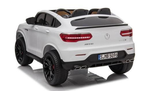 Elektro Kinderfahrzeug lizenziert Mercedes GLC AMG - mit Ledersitz, EVA Reifen und Lackiert - schwarz -4