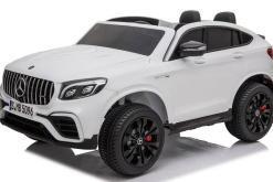 Elektro Kinderfahrzeug lizenziert Mercedes GLC AMG - mit Ledersitz, EVA Reifen und Lackiert - schwarz -6