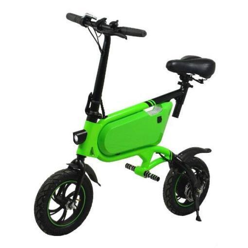 Elektro Scooter, E-Scooter, mit sitz, 36V, 20km/h mit LG Akkus, Bremsen, Tacho klappbar Grün 350W Brushless Motor - 6.0A Akku - 12Zoll Reifen -B06-1