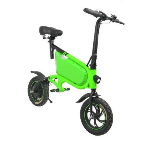Elektro Scooter, E-Scooter, mit sitz, 36V, 20km/h mit LG Akkus, Bremsen, Tacho klappbar Grün 350W Brushless Motor - 6.0A Akku - 12Zoll Reifen -B06-9