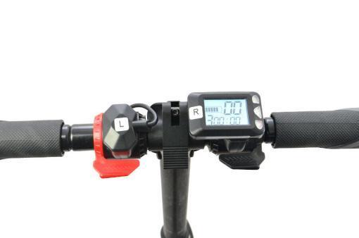 Elektro Scooter, E-Scooter, Trettroller, 24V, mit LG Akkus, Bremsen, Tacho - S01 - klappbar Schwarz-3
