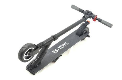 Elektro Scooter, E-Scooter, Trettroller, 24V, mit LG Akkus, Bremsen, Tacho - S01 - klappbar Schwarz-4