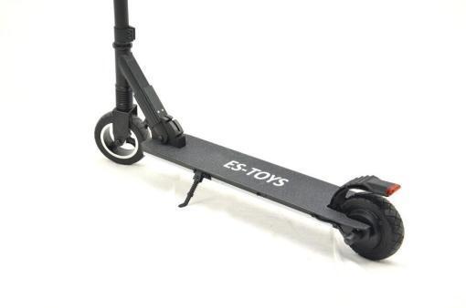 Elektro Scooter, E-Scooter, Trettroller, 24V, mit LG Akkus, Bremsen, Tacho - S01 - klappbar Schwarz-6