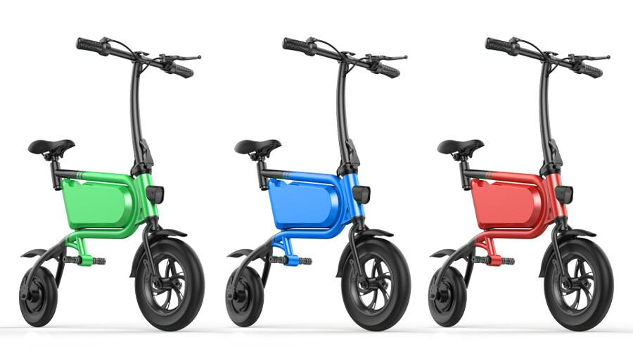 Elektro Scooter, E-Scooter, mit sitz, 36V, 20km/h mit LG Akkus, Bremsen, Tacho klappbar Grün 350W Brushless Motor - 6.0A Akku - 12Zoll Reifen -B06-10