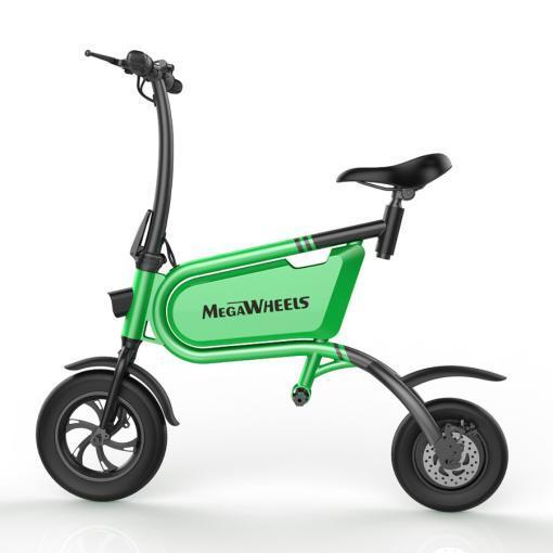 Elektro Scooter, E-Scooter, mit sitz, 36V, 20km/h mit LG Akkus, Bremsen, Tacho klappbar Grün 350W Brushless Motor - 6.0A Akku - 12Zoll Reifen -B06-2