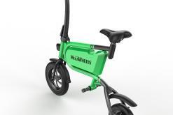 Elektro Scooter, E-Scooter, mit sitz, 36V, 20km/h mit LG Akkus, Bremsen, Tacho klappbar Grün 350W Brushless Motor - 6.0A Akku - 12Zoll Reifen -B06-3