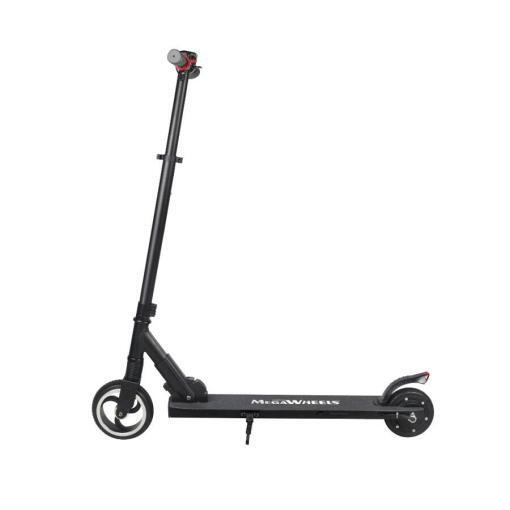 Elektro Scooter, E-Scooter, Trettroller, 24V, mit LG Akkus, Bremsen, Tacho - S01 - klappbar Schwarz-2