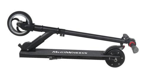 Elektro Scooter, E-Scooter, Trettroller, 24V, mit LG Akkus, Bremsen, Tacho - S01 - klappbar Schwarz-03