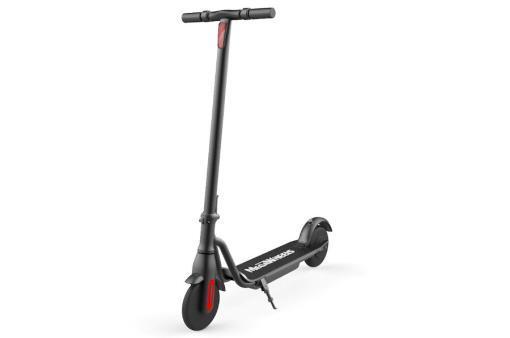 Elektro Scooter, E-Scooter, Trettroller, 36V Brushless Motor - 6.6A mit LG Akku 20km/h, Bremsen, Tacho - S10 - klappbar Schwarz holz trittbrett-1