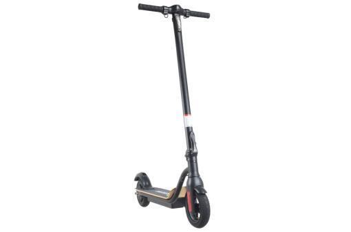 Elektro Scooter, E-Scooter, Trettroller, 36V Brushless Motor - 6.6A mit LG Akku 20km/h, Bremsen, Tacho - S10 - klappbar Schwarz holz trittbrett-3