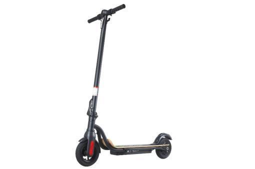 Elektro Scooter, E-Scooter, Trettroller, 36V Brushless Motor - 6.6A mit LG Akku 20km/h, Bremsen, Tacho - S10 - klappbar Schwarz holz trittbrett-5