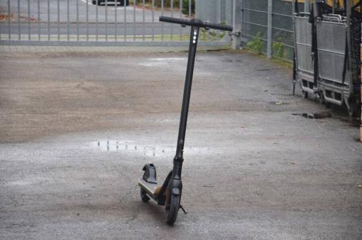 Elektro Scooter, E-Scooter, Trettroller, 36V Brushless Motor - 6.6A mit LG Akku 20km/h, Bremsen, Tacho - S10 - klappbar Schwarz holz trittbrett-7