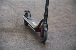 Elektro Scooter, E-Scooter, Trettroller, 36V Brushless Motor - 6.6A mit LG Akku 20km/h, Bremsen, Tacho - S10 - klappbar Schwarz holz trittbrett-8