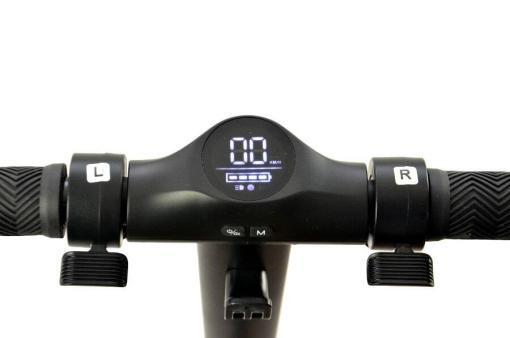 Elektro Scooter, E-Scooter, Trettroller, 36V Brushless Motor - 6.6A mit LG Akku 20km/h, Bremsen, Tacho - S10 - klappbar Schwarz holz trittbrett-10