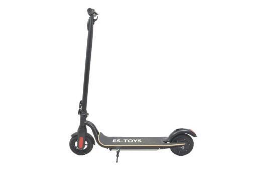 Elektro Scooter, E-Scooter, Trettroller, 36V Brushless Motor - 6.6A mit LG Akku 20km/h, Bremsen, Tacho - S10 - klappbar Schwarz holz trittbrett-12