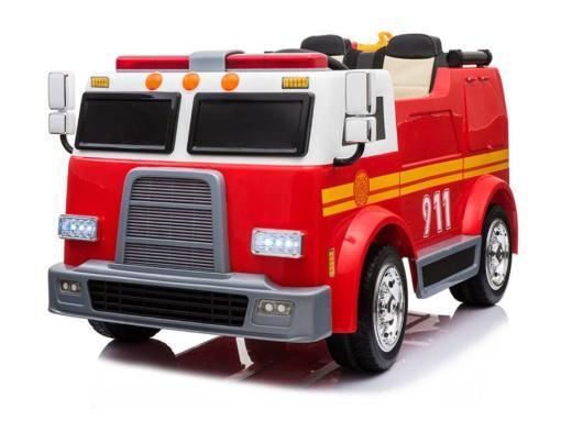 Elektro Kinderfahrzeug Kinderauto Feuerwehr zweisitzer 2 Sitzer für Kinder ab 2 Jahren 12V Sirene Groß Megaphone Rot.-1