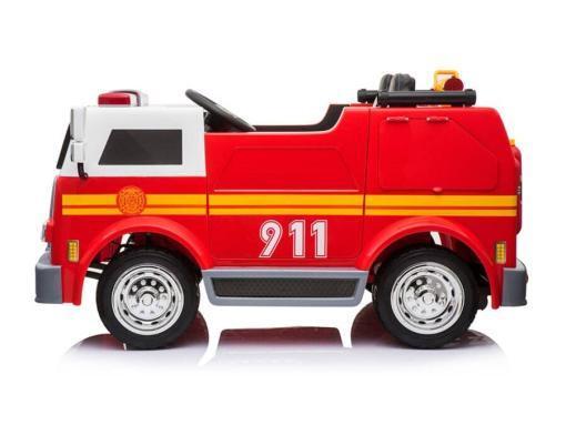 Elektro Kinderfahrzeug Kinderauto Feuerwehr zweisitzer 2 Sitzer für Kinder ab 2 Jahren 12V Sirene Groß Megaphone Rot-2
