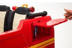 Elektro Kinderfahrzeug Kinderauto Feuerwehr zweisitzer 2 Sitzer für Kinder ab 2 Jahren 12V Sirene Groß Megaphone Rot-3