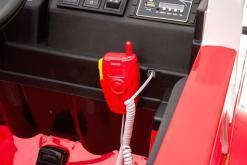 Elektro Kinderfahrzeug Kinderauto Feuerwehr zweisitzer 2 Sitzer für Kinder ab 2 Jahren 12V Sirene Groß Megaphone Rot-4