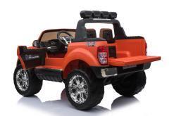 Elektro Kinderfahrzeug Kinderauto für Kinder ab 2 Jahre 2 Sitzer Zwei Sitzer Ford Ranger Orange Jeep 4x4 12V Mp4-3