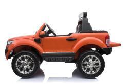 Elektro Kinderfahrzeug Kinderauto für Kinder ab 2 Jahre 2 Sitzer Zwei Sitzer Ford Ranger Orange Jeep 4x4 12V Mp4-4