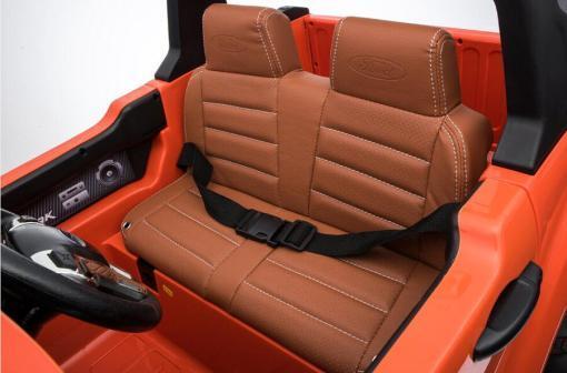 Elektro Kinderfahrzeug Kinderauto für Kinder ab 2 Jahre 2 Sitzer Zwei Sitzer Ford Ranger Orange Jeep 4x4 12V Mp4-6