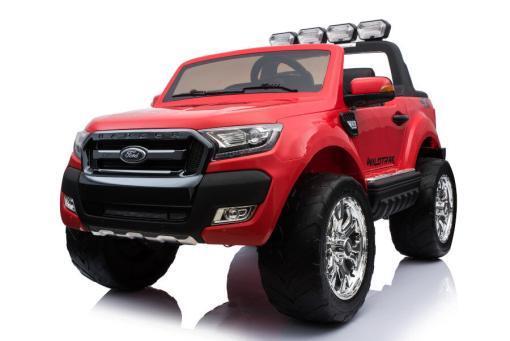Elektro Kinderfahrzeug Kinderauto für Kinder ab 2 Jahre 2 Sitzer Zwei Sitzer Ford Ranger Rot Jeep 4x4 12V Mp4-3
