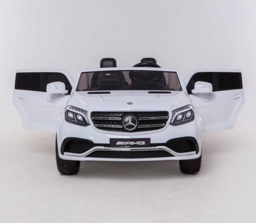 Elektro Kinderfahrzeug Kinderauto Mercedes GLS63 AMG für Kinder ab 2 Jahre Jeep SUV Weiß Groß 12V-1