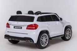 Elektro Kinderfahrzeug Kinderauto Mercedes GLS63 AMG für Kinder ab 2 Jahre Jeep SUV Weiß Groß 12V-2