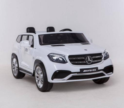 Elektro Kinderfahrzeug Kinderauto Mercedes GLS63 AMG für Kinder ab 2 Jahre Jeep SUV Weiß Groß 12V-3