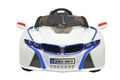 Elektro Kinderfahrzeug Kinderauto für Kinder ab 2 Jahre 12V Weiß Lichter LED Flügeltüren-3