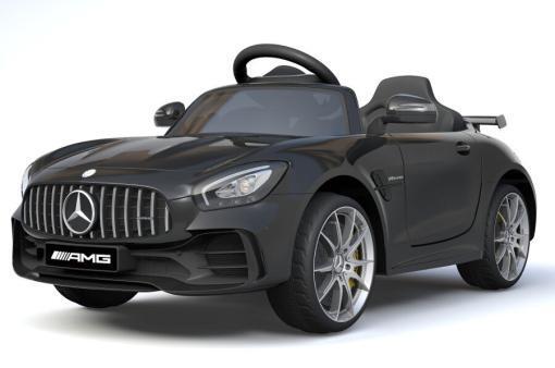 Elektro Kinderfahrzeug Kinderauto Mercedes Gtr Amg Schwarz für Kinder ab 2 Jahren 12V Sportwagen