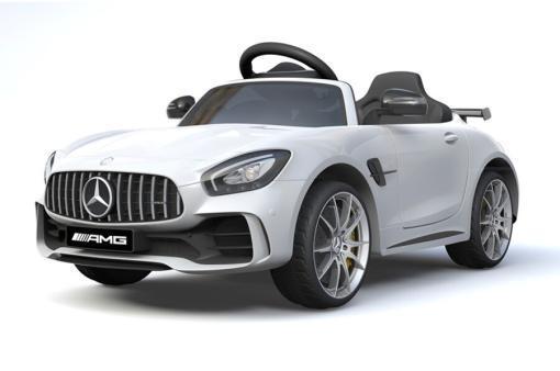 Elektro Kinderfahrzeug Kinderauto Mercedes Gtr Amg Weiß für Kinder ab 2 Jahren 12V Sportwagen-01