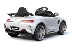 Elektro Kinderfahrzeug Kinderauto Mercedes Gtr Amg Weiß für Kinder ab 2 Jahren 12V Sportwagen-2