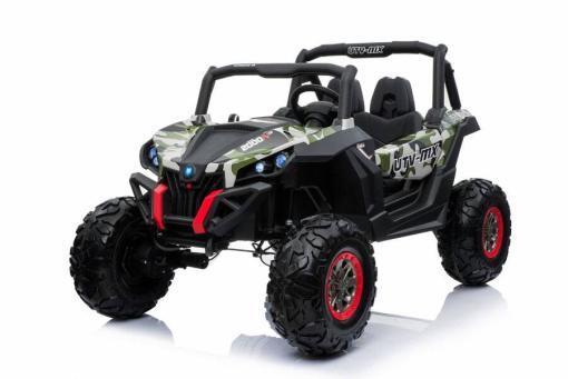 Elektro Kinderfahrzeug Kinderauto Buggy zweisitzer 2 sitzer UTV 4x4 12V für Kinder ab 2 Jahren Groß Camouflage-2