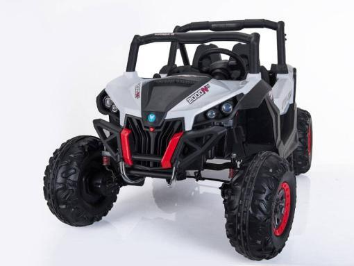 Elektro Kinderfahrzeug Kinderauto Buggy zweisitzer 2 sitzer UTV 4x4 12V für Kinder ab 2 Jahren Groß weiß-11