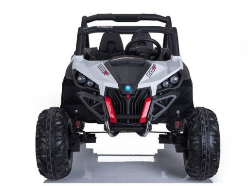 Elektro Kinderfahrzeug Kinderauto Buggy zweisitzer 2 sitzer UTV 4x4 12V für Kinder ab 2 Jahren Groß weiß-12