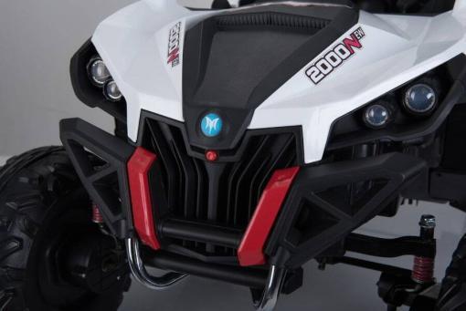 Elektro Kinderfahrzeug Kinderauto Buggy zweisitzer 2 sitzer UTV 4x4 12V für Kinder ab 2 Jahren Groß weiß-13