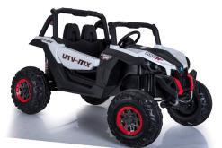 Elektro Kinderfahrzeug Kinderauto Buggy zweisitzer 2 sitzer UTV 4x4 12V für Kinder ab 2 Jahren Groß weiß-1