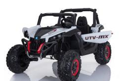 Elektro Kinderfahrzeug Kinderauto Buggy zweisitzer 2 sitzer UTV 4x4 12V für Kinder ab 2 Jahren Groß weiß-2