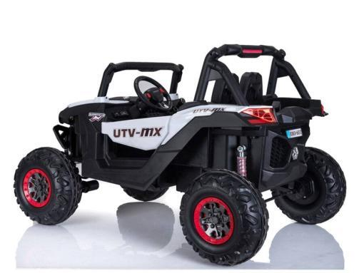 Elektro Kinderfahrzeug Kinderauto Buggy zweisitzer 2 sitzer UTV 4x4 12V für Kinder ab 2 Jahren Groß weiß-4