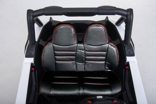 Elektro Kinderfahrzeug Kinderauto Buggy zweisitzer 2 sitzer UTV 4x4 12V für Kinder ab 2 Jahren Groß weiß-7