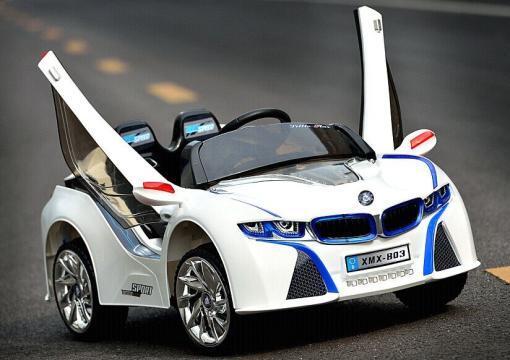 Elektro Kinderfahrzeug Kinderauto für Kinder ab 2 Jahre 12V Weiß Lichter LED Flügeltüren-1