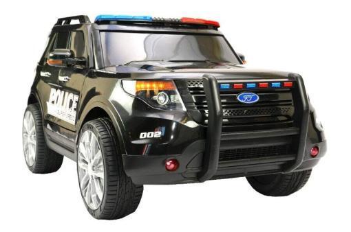 Elektro Kinderfahrzeug Kinderauto Polizei für Kinder ab 2 Jahre 12V mit Sirene lichter Megaphone Groß-1