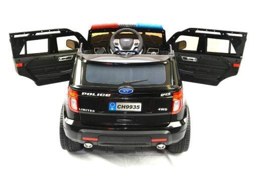 Elektro Kinderfahrzeug Kinderauto Polizei für Kinder ab 2 Jahre 12V mit Sirene lichter Megaphone Groß-4