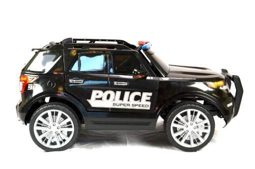 Elektro Kinderfahrzeug Kinderauto Polizei für Kinder ab 2 Jahre 12V mit Sirene lichter Megaphone Groß-5