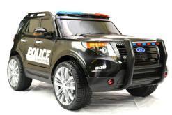 Elektro Kinderfahrzeug Kinderauto Polizei für Kinder ab 2 Jahre 12V mit Sirene lichter Megaphone Groß-6